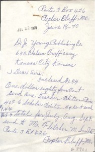 Letter, 1970 June 18, to D.J. Young Publishing Company