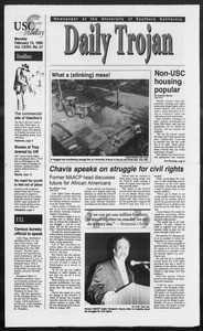 Daily Trojan, Vol. 124, No. 21, February 13, 1995