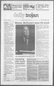 Daily Trojan, Vol. 110, No. 43, November 03, 1989