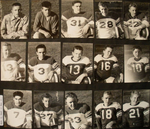 Analy High School Tigers Football, 1953--fifteen individual photos of unidentified football players--probably junior varsity