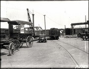 [Southern Pacific Railroad Sacramento Shops complex: view of yards]
