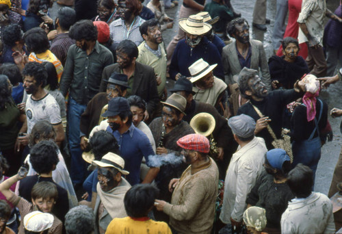 Crowd at the Blacks and Whites Carnival, Nariño, Colombia, 1979