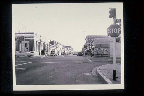 Pier Avenue looking west from Neilson Way (Ocean Park Redevelopment Project) 1964