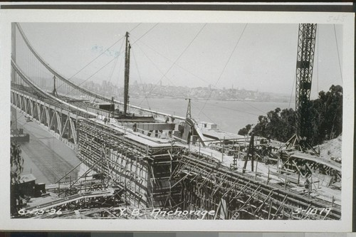 Yerba Buena Viaduct, Tunnels, Arch, Pier E1, Yerba Buena Anchorage, East Portal, West Portal, 1935-36--No. 373-561
