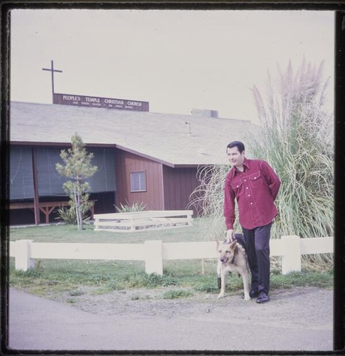 Jim Jones with dog