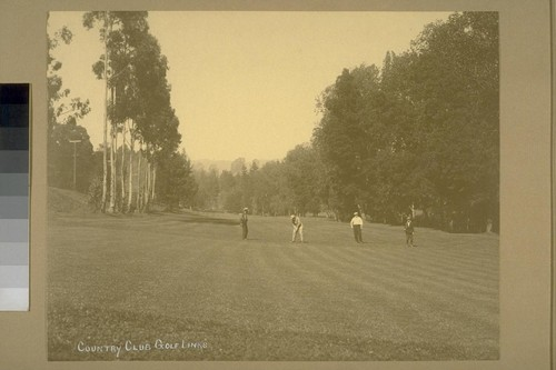 Country Club Golf Links [Claremont Country Club - golfers on golf course]