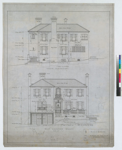 South and West Elevations, Drawing # 5