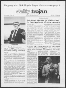 Daily Trojan, Vol. 98, No. 62, April 18, 1985