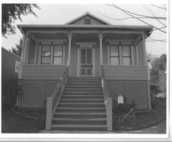 1895 Queen Anne cottage in the Calder Addition, at 672 South Main Street, Sebastopol, California, 1993