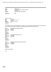 [Email from Jefferys Jane to Nigel Espin in regards to very urgent Cyprus enquiry]