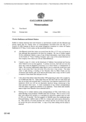 Gallaher Limited[Memo from Norman Jack to Tom Keevil regarding Charles Hadkinson and Related Matters]