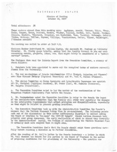 USC Faculty Senate minutes, 1957-10-16