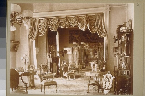 [Interior of Stanton Residence, Grace Hill, Pasadena ?]