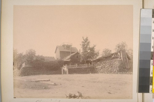 Chavanne's House and hoisting works--South Side. Sheep Ranch (Calaveras Co.). [No.] 14
