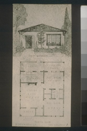 Floor plan, by Prof. J. W. Gregg - L.A., Univ. of California