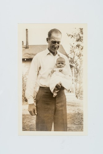 "Colby E. ""Babe"" Slater with baby daughter, Marilyn"