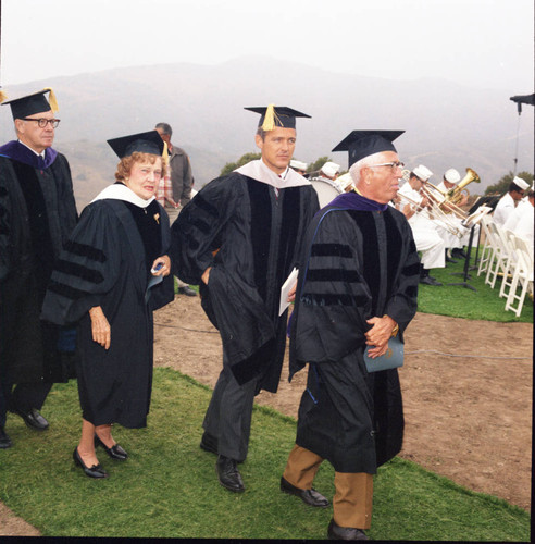 Procession at the dedication of Malibu campus and William Banowsky's inauguration, 1970