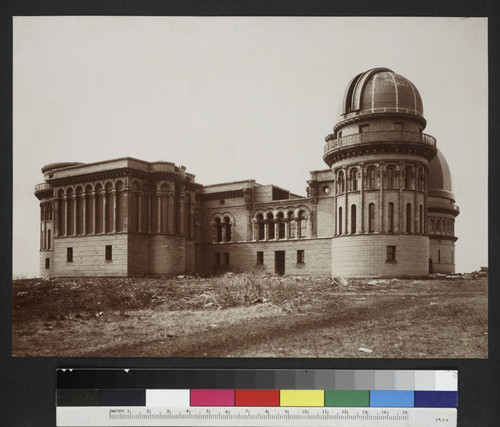 North dome of the Yerkes Observatory, from the east, after the Kenwood Observatory dome has been installed