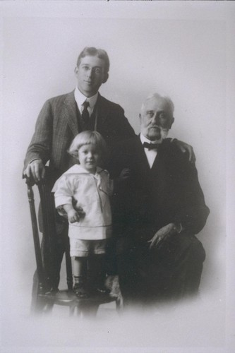 Philip Bancroft, Sr., Philip Bancroft, Jr. and Hubert Howe Bancroft, about 1915