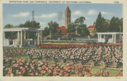Exposition Park and campanile, University of Southern California