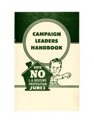 Campaign leaders handbook: vote no on the Socialist Public Housing Measure, June 3