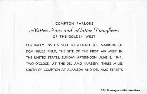 calisphere plaque dedication invitation