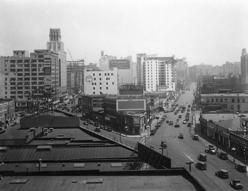 Panoramic view over Broadway