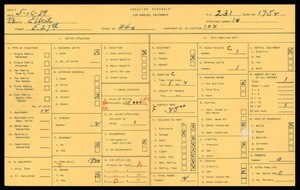 WPA household census for 440 EAST 27TH STREET, Los Angeles