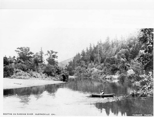 Boating on the Russian River, Guerneville, California