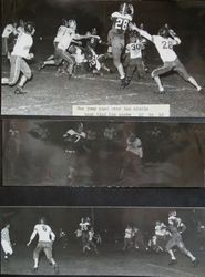 Analy High School Tigers football team of fall 1950--practice game between Analy Tigers and Petaluma