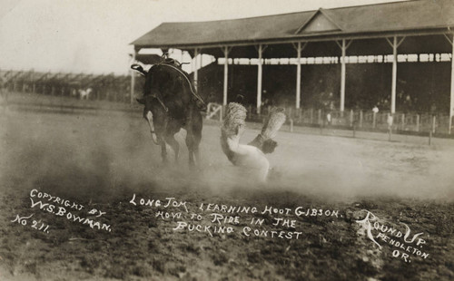 Long Tom and Hoot Gibson, Pendleton Round-Up