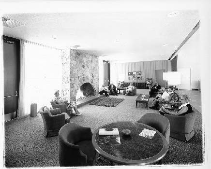 Lounge at Oakmont Club House, Santa Rosa, California, 1967