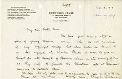 Mary J. Workman letter to Fr. Corr, 1919 November 12