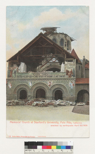 memorial church at stanford s university palo alto california wrecked by earthquake april 18
