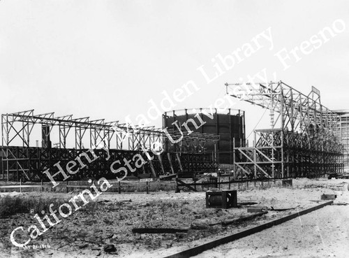 Early construction of Panama Canal exhibit