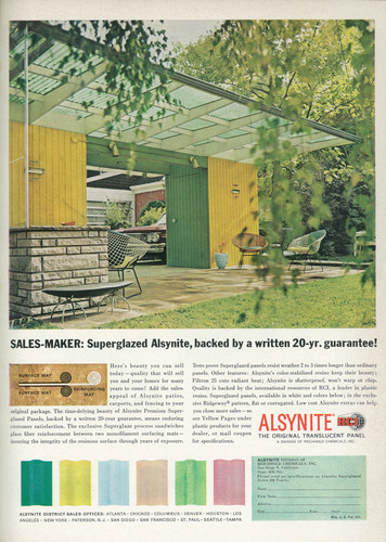 """SALES-MAKER: Super-glaze Alsynite, backed by a written 20-yr. guarantee!"""