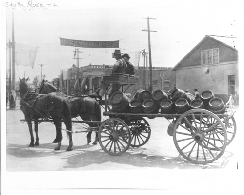 Grace Brothers delivery wagon at 4th and Wilson Streets