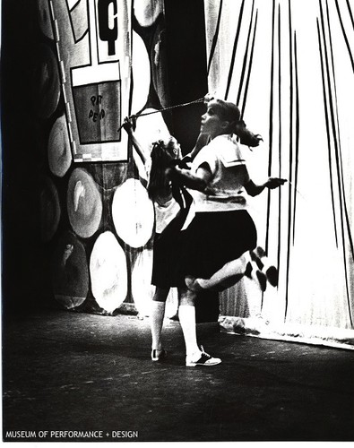 "Salicia Smith and Barbara Begany in movement ""I: Incipiency"" of Christensen's ""Life: A Do It Yourself Disaster"""