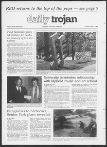 Daily Trojan, Vol. 98, No. 55, April 09, 1985