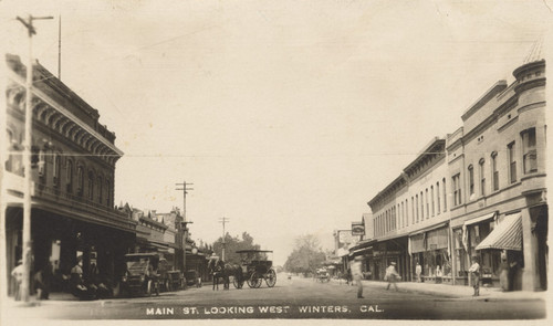 Main St. looking west Winters, Cal.