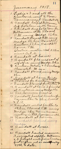 Accounting Ledger, 1917-1918