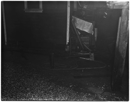 House damage caused by a gas explosion