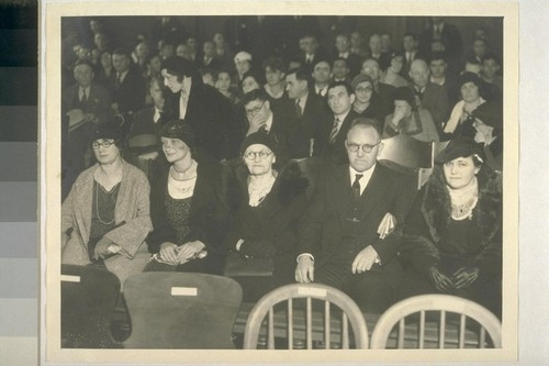 Mooney family hears trial date set. San Francisco, California. Left to right above are shown: Mrs. Belle Hammerberg, Mrs. Mooney's