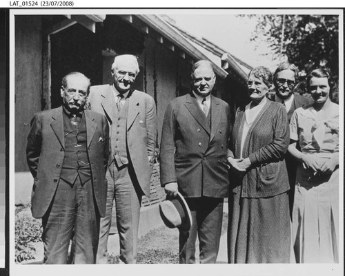 Harry Chandler with Herbert Hoover and others at Tejon Ranch