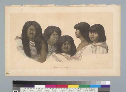 [Portrait heads of Indians of California]