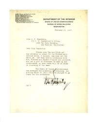Letter from Isidore B. Dockweiler to J. C. Humphreys, February 13, 1917