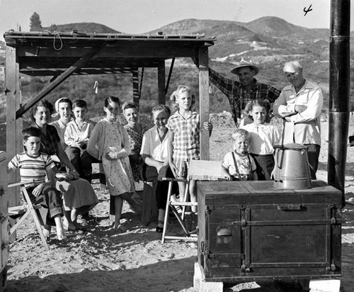 Party at Water Drilling Site, Topanga, 1952