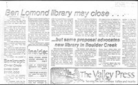 Ben Lomond library may close