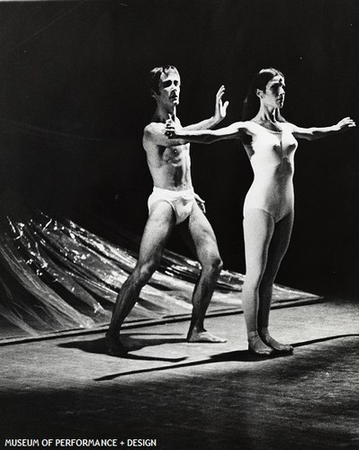 Roderick Drew and a San Francisco Ballet dancer in Carvajal's The Way, 1969