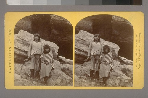 Navajo Brave and his Mother.--Photographer: T. H. O'Sullivan--Photographer's number: 29--Photographer's series: Expedition of 1873
